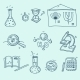 Science Icons Set School Laboratory Chemistry - GraphicRiver Item for Sale