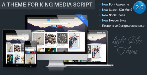 CodeCanyon LightBlue Theme For KingMedia Script 2.0 11168382