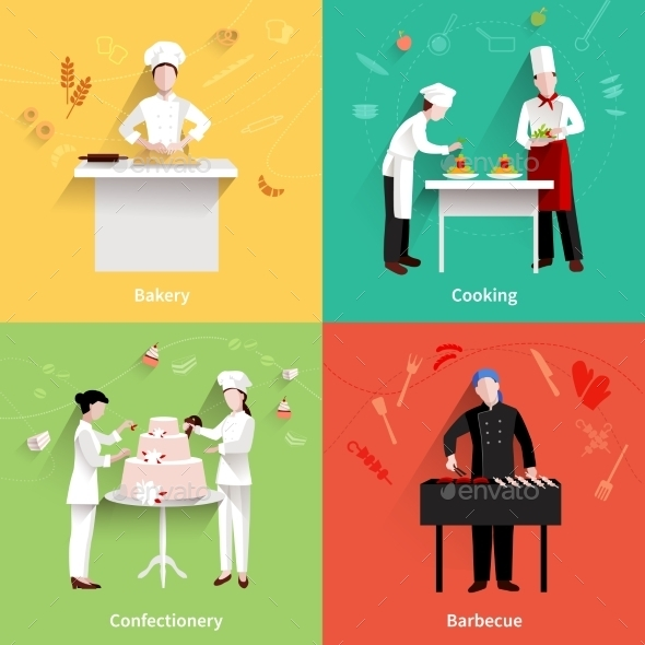 GraphicRiver Cooking Icons Set 11524808