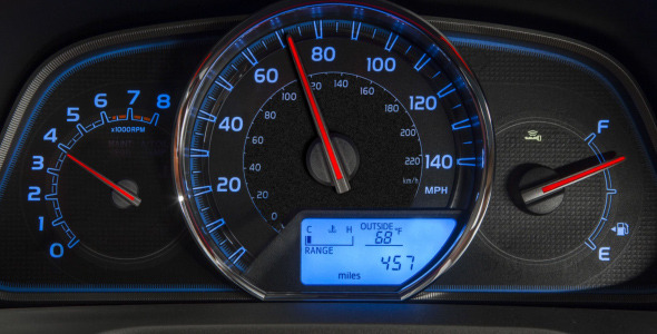 Car Dashboard Sports Acceleration
