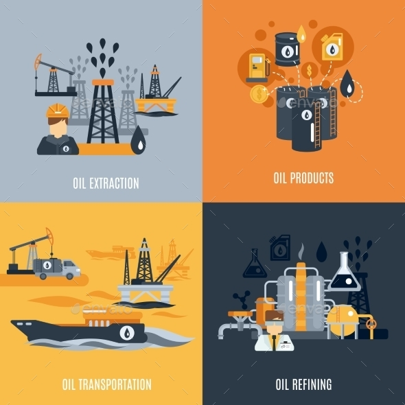 GraphicRiver Oil Industry Flat Icon 11524816