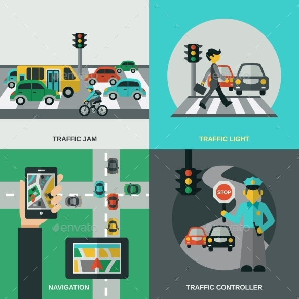 GraphicRiver Traffic Concept Set 11524825