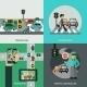 Traffic Concept Set - GraphicRiver Item for Sale