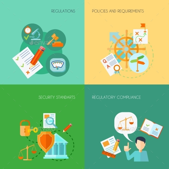 GraphicRiver Flat Compliance Set 11524843