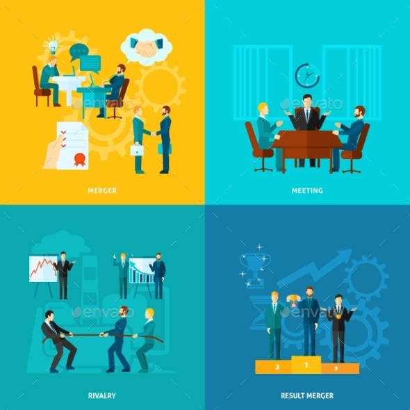 GraphicRiver Flat Collaboration Set 11524844