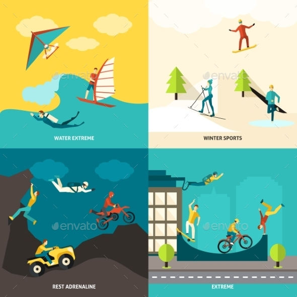 GraphicRiver Extreme Sports Set 11524850