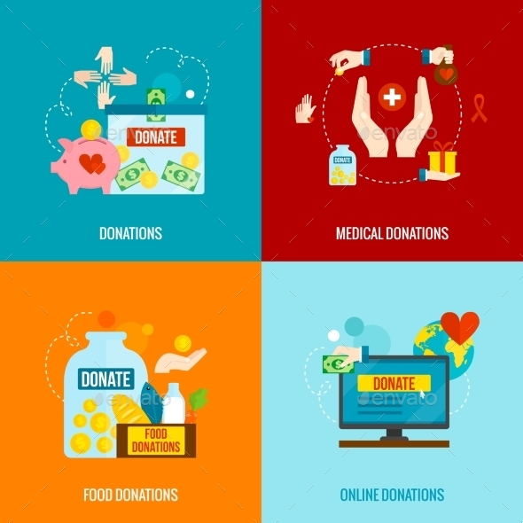GraphicRiver Charity Flat Set 11524857