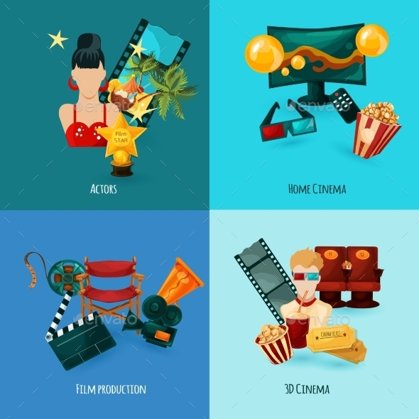 GraphicRiver Cinema Cartoon Set 11524890