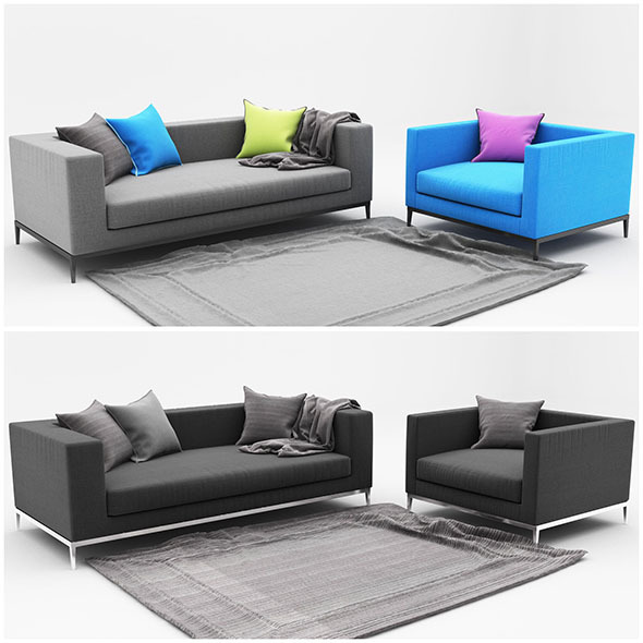3DOcean Sofa color 11524937
