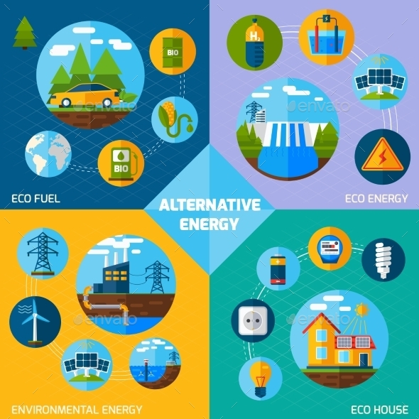 GraphicRiver Alternative Energy Set 11524980