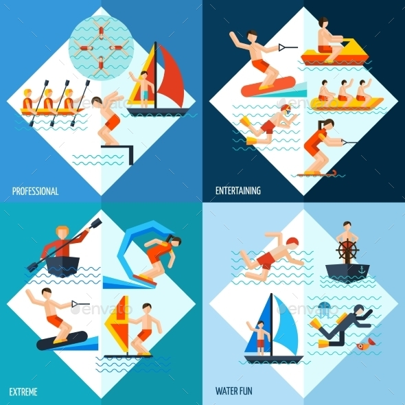 GraphicRiver Water Sports Set 11525008