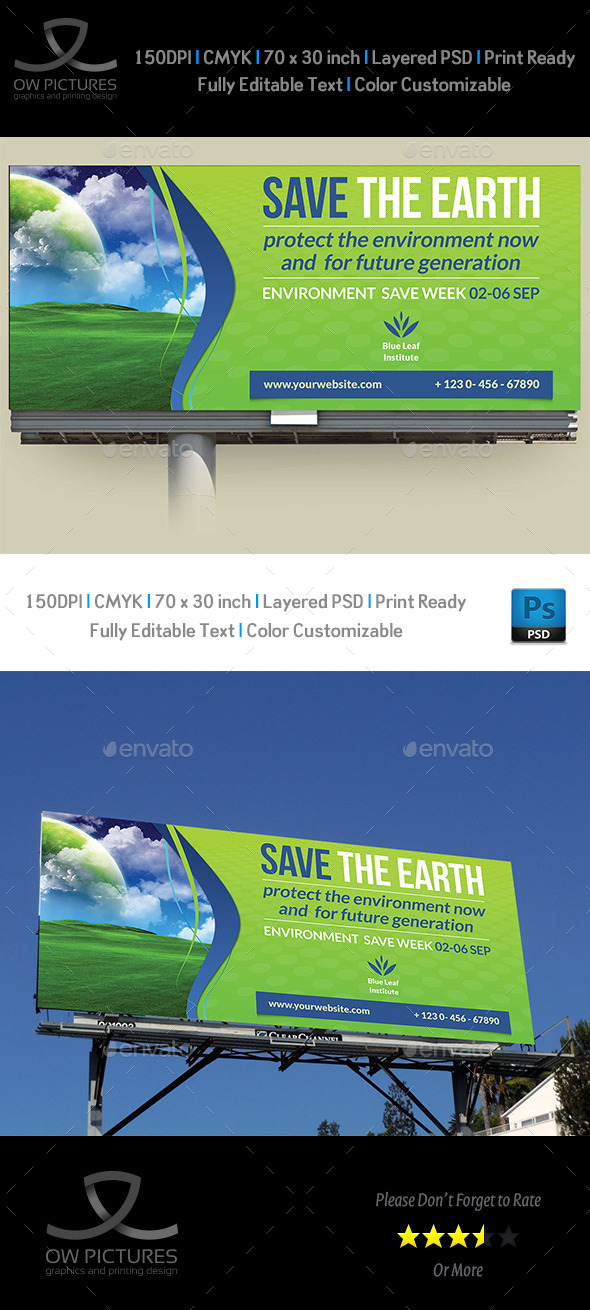 GraphicRiver Environment ECO Billboard Template 11525268
