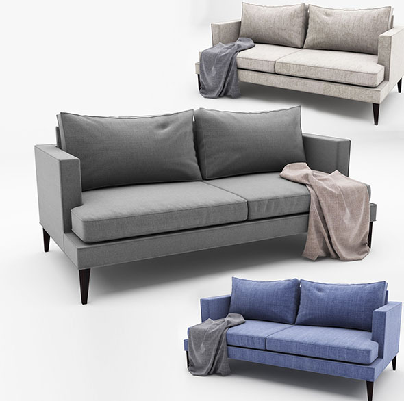 Spencer-Sofa - 3DOcean Item for Sale