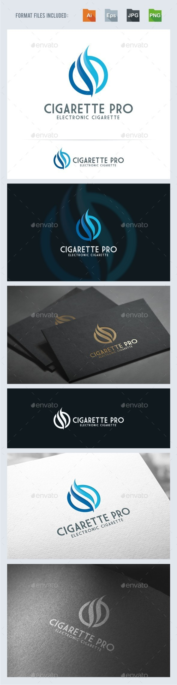 Cigarette - Flame Logo Template