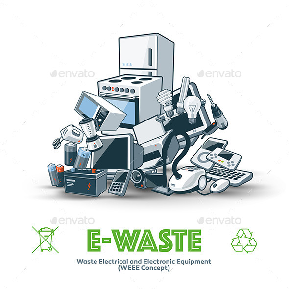 GraphicRiver E-Waste Pile 11525731