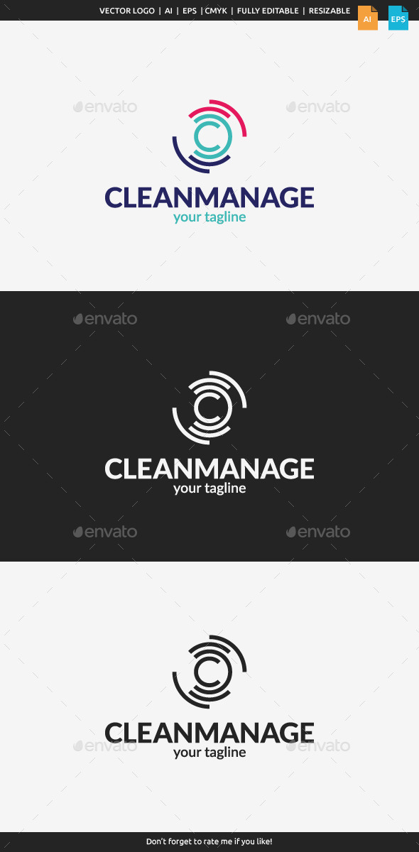 GraphicRiver Clean Manage Logo Letter C 11525739