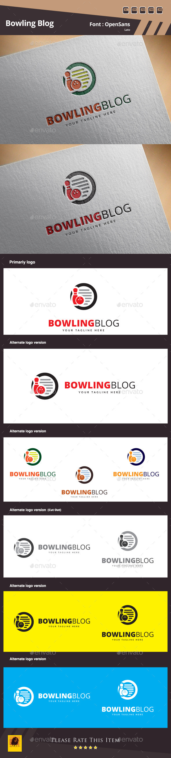 GraphicRiver Bowling Blog Logo Template 11525756