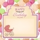 Childrens Congratulatory Background With a Pink - GraphicRiver Item for Sale