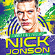 Summer Electro House Artist Flyer 2 - GraphicRiver Item for Sale