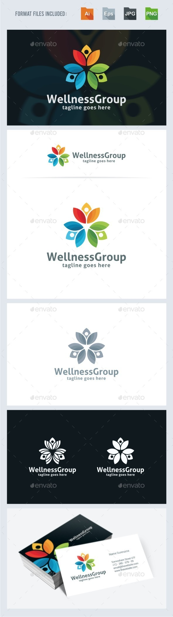 GraphicRiver Wellness Group Logo Template 11526186