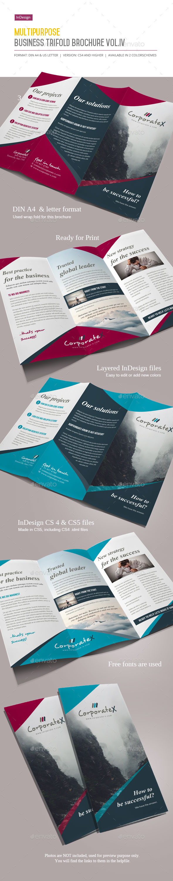 GraphicRiver Business Trifold Brochure Vol IV 11526218