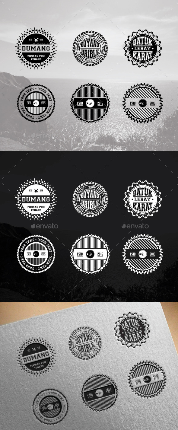 GraphicRiver 6 Badges and Stickers 11526259