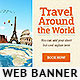 Travel Around the World Banner - GraphicRiver Item for Sale