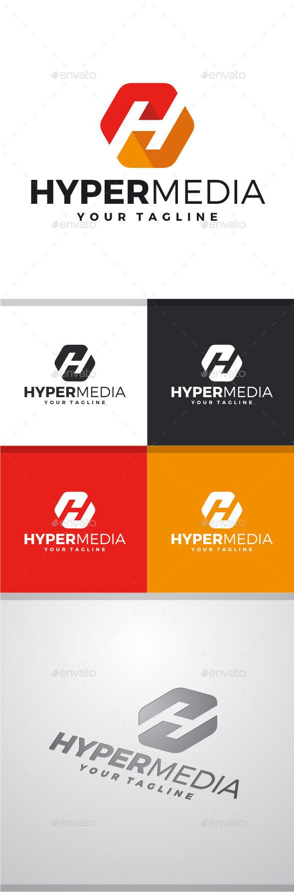 GraphicRiver Hyper Media H Logo 11526960