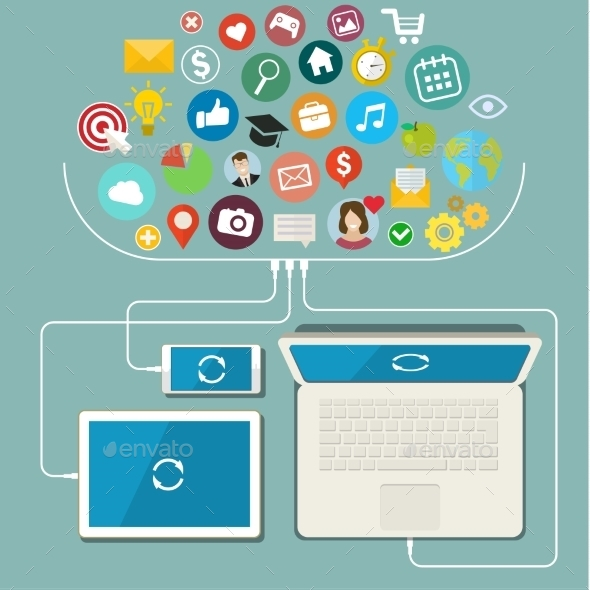 GraphicRiver Social Network Communication In The Global 11527058