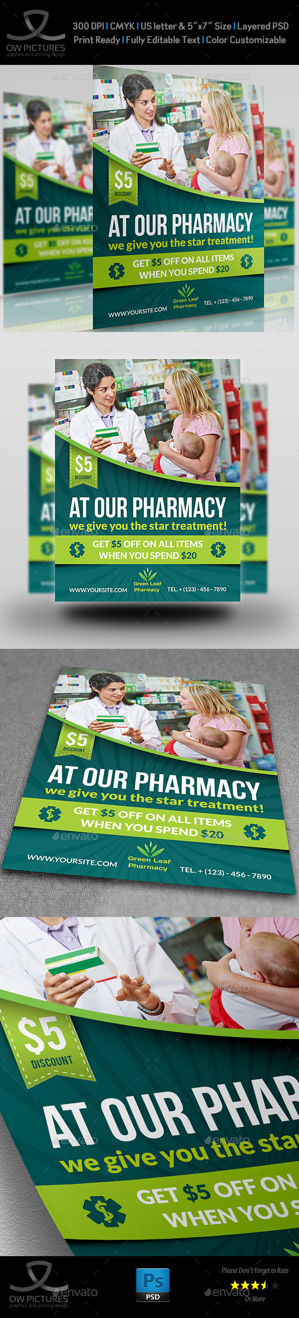 GraphicRiver Pharmacy Flyer Template Vol.3 11527147