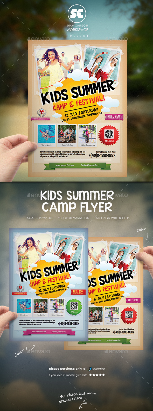 GraphicRiver Kids Summer Camp Flyer 11527290