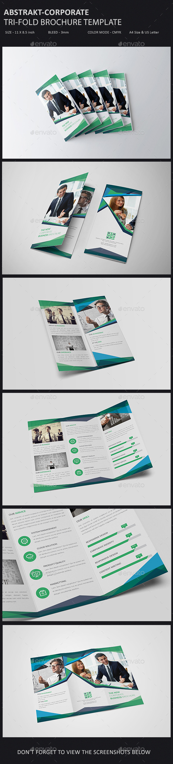 GraphicRiver Abstrakt- Corporate Trifold Brochure Template 11527339
