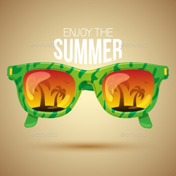 GraphicRiver Tropical View In Sunglasses 11527342