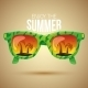 Tropical View In Sunglasses.  - GraphicRiver Item for Sale
