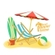 Sea Sand Shore And Beach. - GraphicRiver Item for Sale