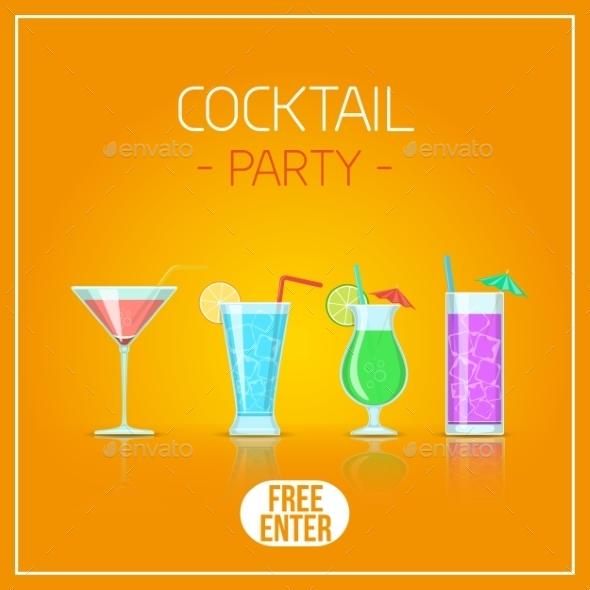 GraphicRiver Cocktail Glasses 11527356