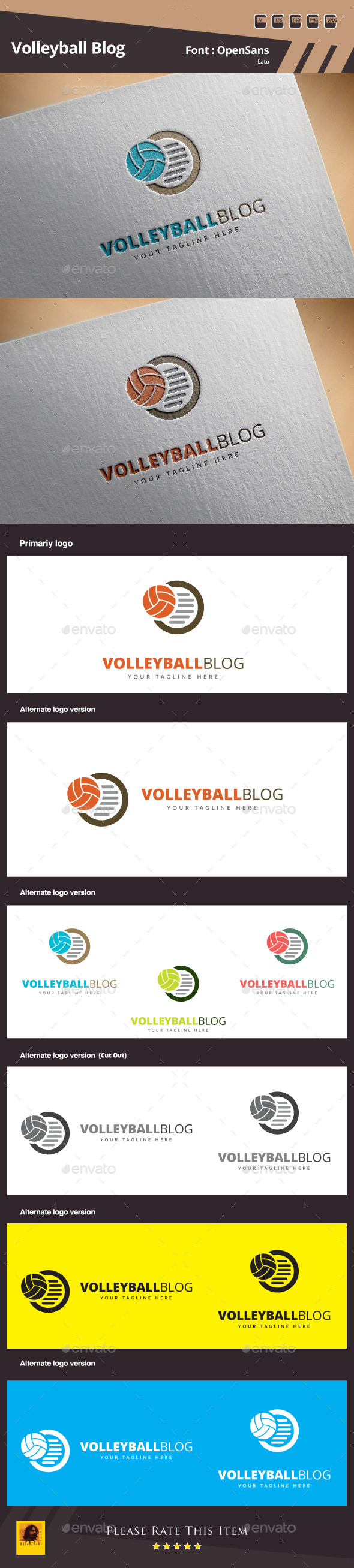 GraphicRiver Volleyball Blog Logo Template 11527721