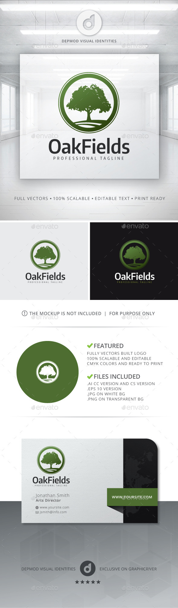GraphicRiver Oak Fields Logo 11527720