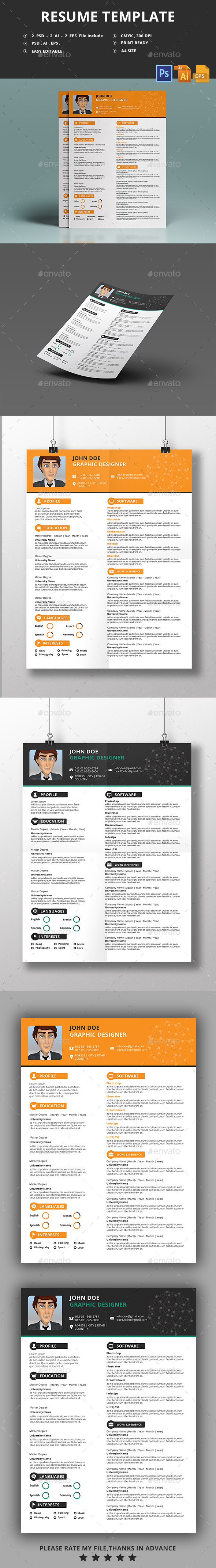 GraphicRiver Resume Template 11527836