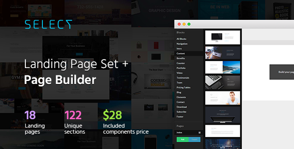 ThemeForest Select Landing Page Set with Page Builder 11407624