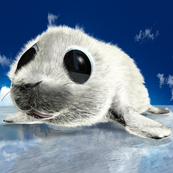 3DOcean Cartoon Baby Seal Rigged 11528009