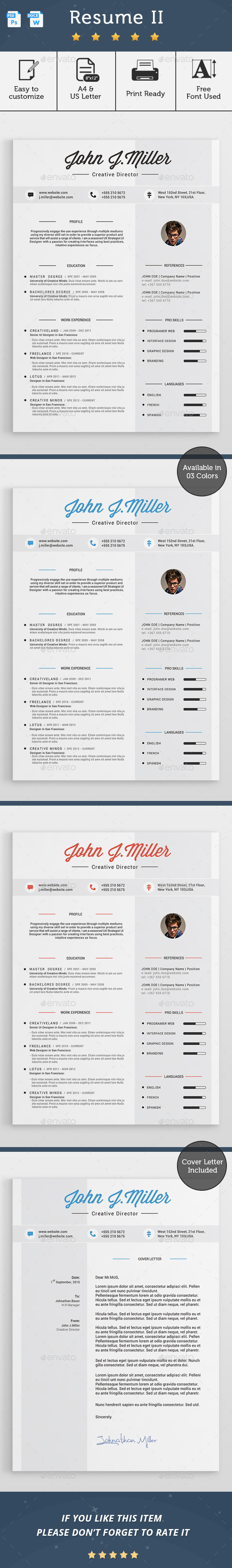 GraphicRiver Resume II 11528399