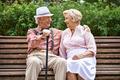 Seniors on bench - PhotoDune Item for Sale