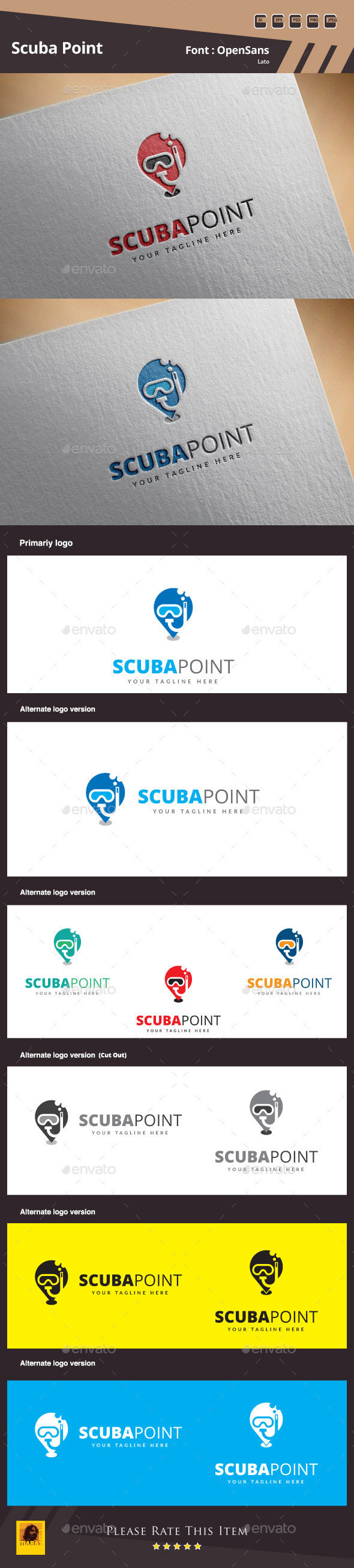 GraphicRiver Scuba Point Logo Template 11528778