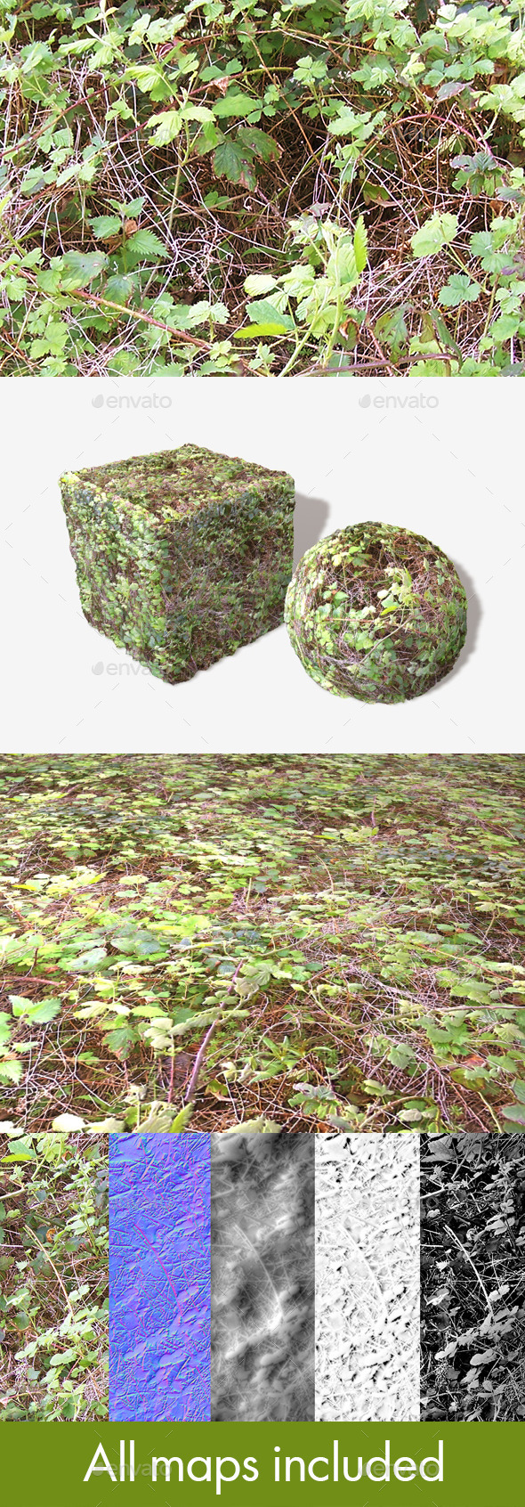 Brambles Seamless Texture - 3DOcean Item for Sale