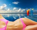 Woman at tropical swimming pool - PhotoDune Item for Sale