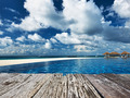 Swimming pool and old wooden pier - PhotoDune Item for Sale