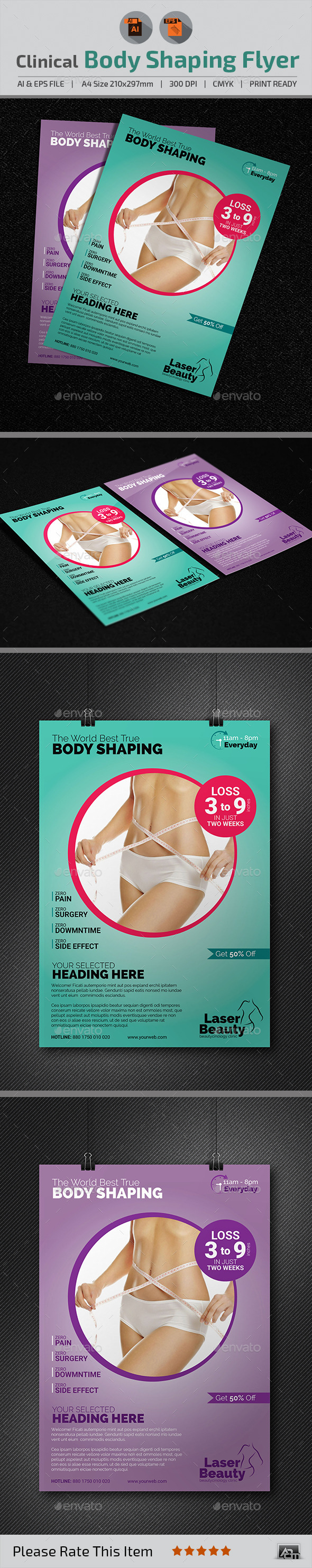 GraphicRiver Clinical Body Shaping Flyer 11529195
