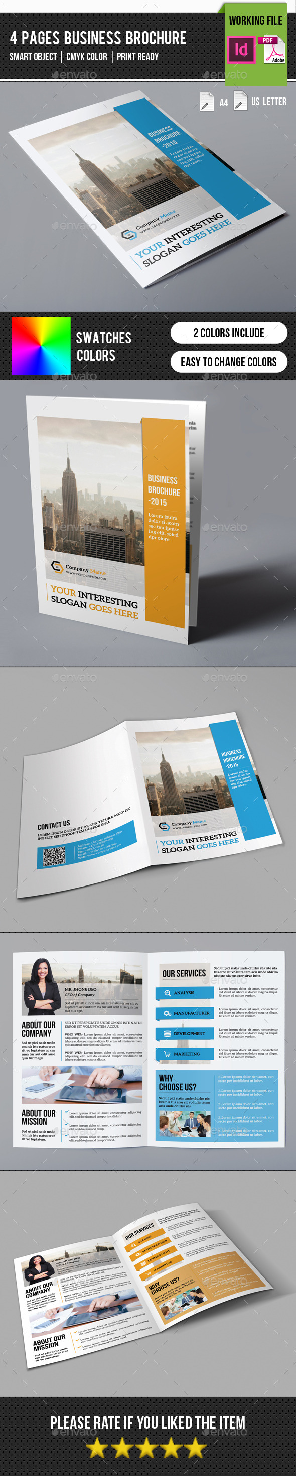 GraphicRiver Corporate Bifold Brochure-V250 11529263