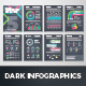 Dark Infographic Brochure Vector Elements Kit 5 - GraphicRiver Item for Sale